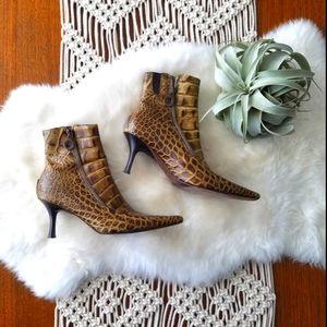 Vintage Donald J Pliner Leather Boots EUC